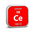 Cerium material sign