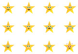 Gold Stars Emoticons Set