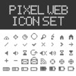 Vector pixel web icons set