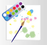 Abstract watercolor, vector illustration.