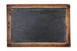 Blank vintage chalkboard isolated on white
