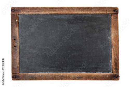 Leinwanddruck Bild Blank vintage chalkboard isolated on white