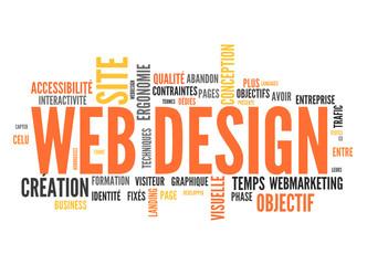 web design (tag cloud français)