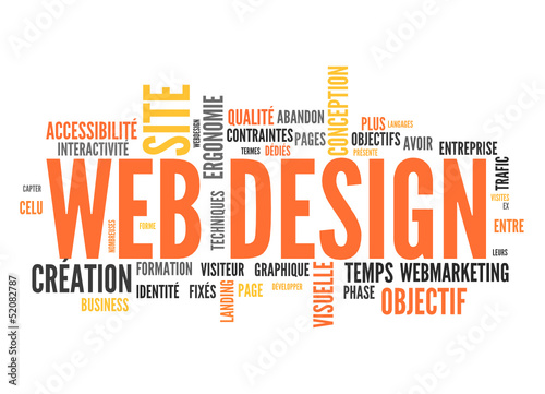web design (tag cloud français)