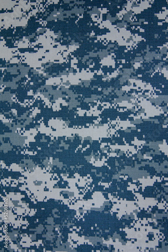 Tuinposter Stof US navy digital camouflage fabric texture background
