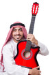 Arab Man Playing Guitar Isolat...