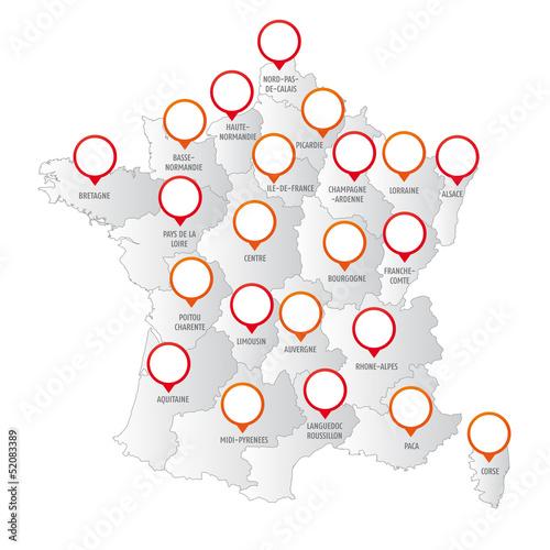 Carte de France Design Carte France Régions