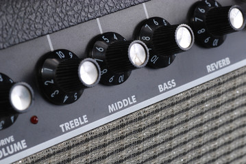button of guitar amplifier