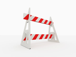 Road barrier isolated