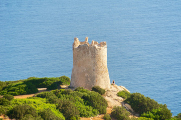 Torre del Bollo, Capo Caccia, Sardinia, Italy