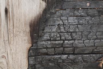 Verbranntes Holz