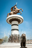Statue of Alexander the Great in downtown of Skopje, Macedonia ( poster