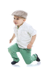 Dapper little boy in a cute outfit