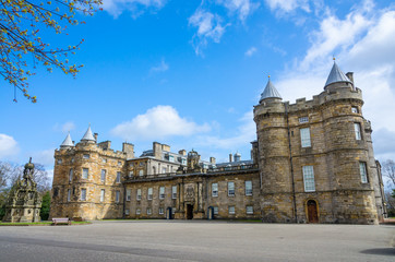 Holyrood Palace in Edinburgh, Scotland