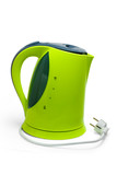 green tea kettle electric isolated on white background
