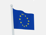 Europe union flag isolated