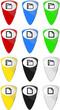 Ordner Dokument Web Icon Button Set