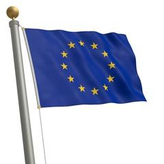 Flagge von EU