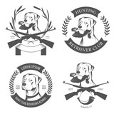 Set of hunting retriever logos, labels and badges poster
