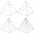 Постер, плакат: Pyramid From The Simple To The Complicated Shape Vector 09