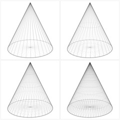 Cone From The Simple To The Complicated Shape Vector 06