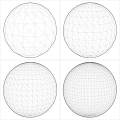 Sphere From The Simple To The Complicated Shape Vector 07