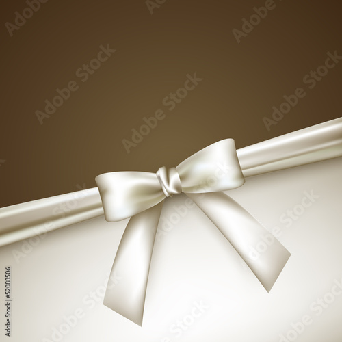 elegant background with white bow