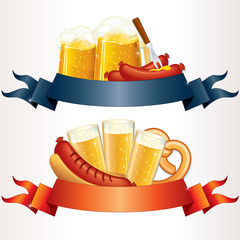 Festive Oktoberfest Banner, Header. Illustration