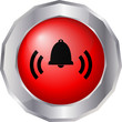 Alarm Glocke Button Web Icon Vector rot