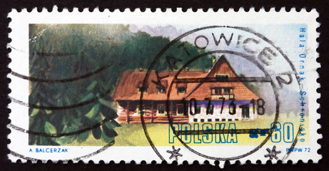 Postage stamp Poland 1972 Hala Ornak, West Tatra