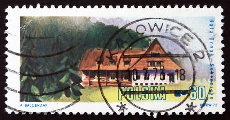 Postage stamp Poland 1972 Hala Ornak, West Tatra