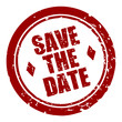 stempel rund save the date I