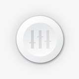 White plastic equalizer button