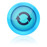 Blue vector update button