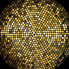 Golden Disco Ball Mosaic Background