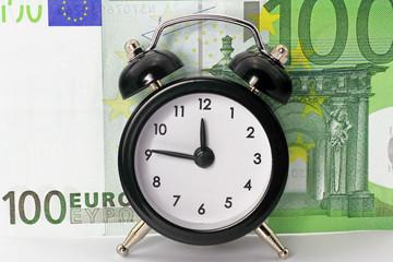 wecker mit euronote