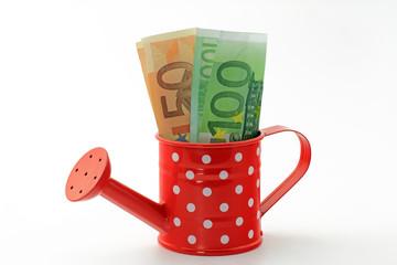 euro in giesskanne