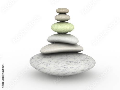 Round stones on a white background №4