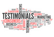 "Word Cloud ""Testimonials"""