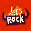 Vector let's rock poster
