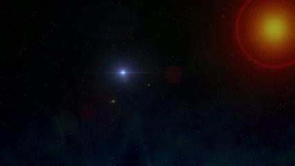 Cosmos y luz acercandose