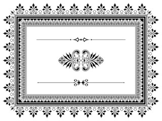 Ornament border design elements with dividers