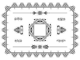 Ornament design elements dividers with border