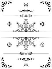 Ornament design elements dividers