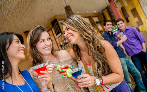Women at a bar