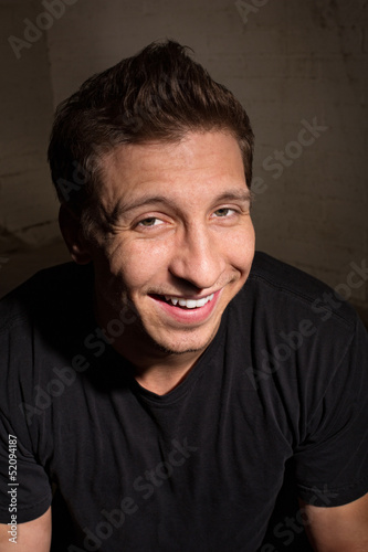 Smiling Man in Black