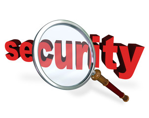 Security Magnifying Glass Word Secure Private Safety