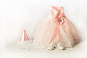 Little Girl Party Dress and Hat
