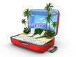 canvas print picture - Open baggage, vacation concept