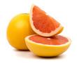 Cut grapefruit isolated on white background